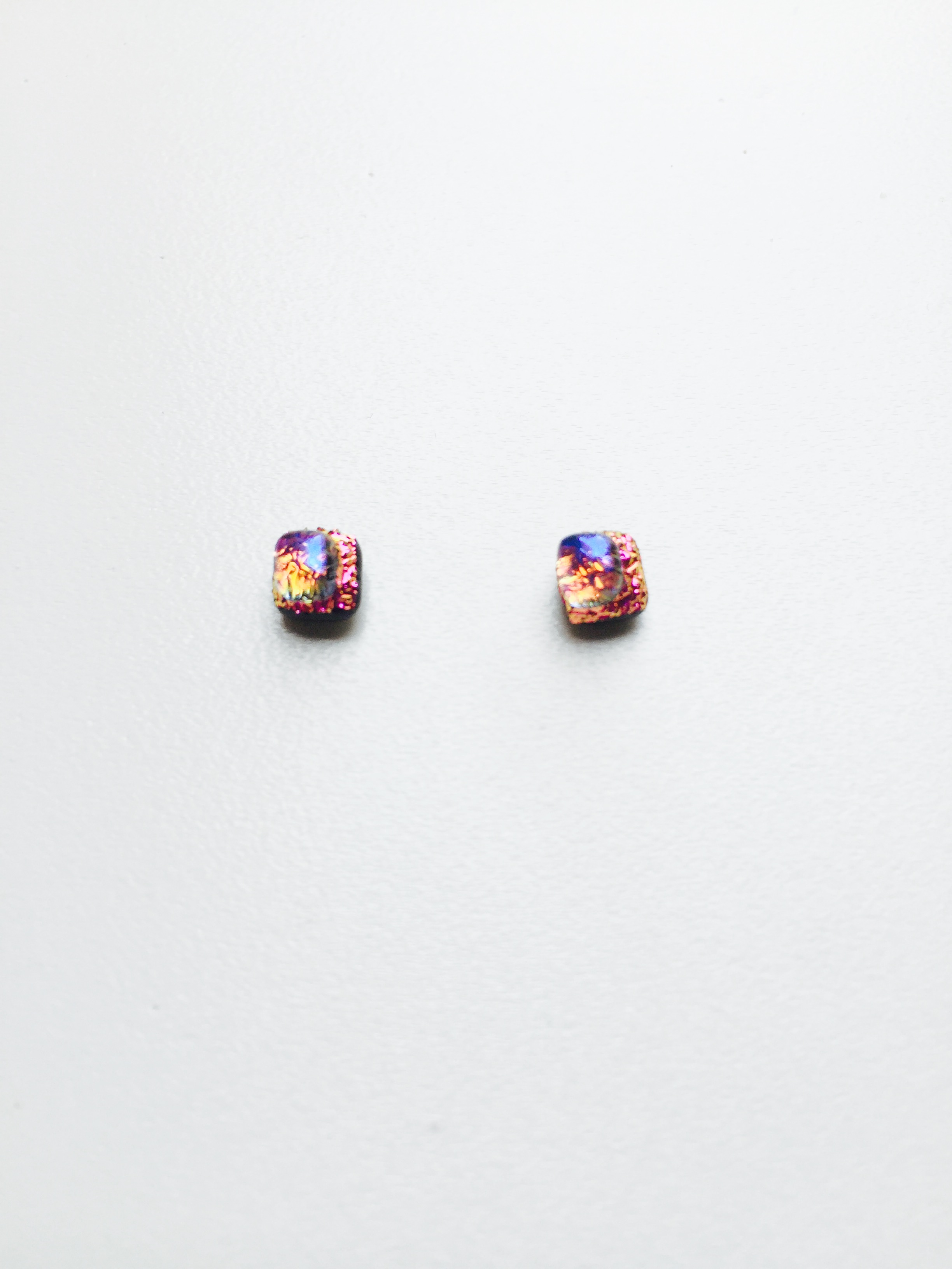 pin eventurine pinterest fused earrings glass stud blue