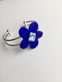 Royal Blue Flower Bangle