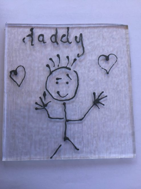 Capturing your Child's drawing in glass