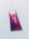 Pendant Shocking pink dichroic glass with striped clear dichroic glass detail